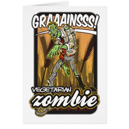 Zombi vegetariano tarjeta