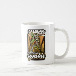 Zombi vegetariano taza de café