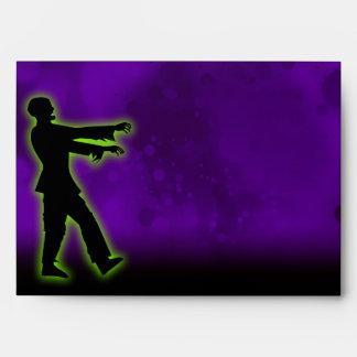 Zombi verde en púrpura