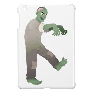 Zombi verde que camina lentamente con los brazos