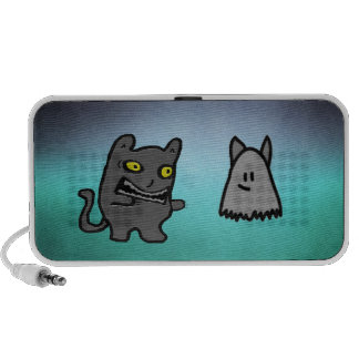 Zombi y fantasma del gato de Halloween iPhone Altavoces