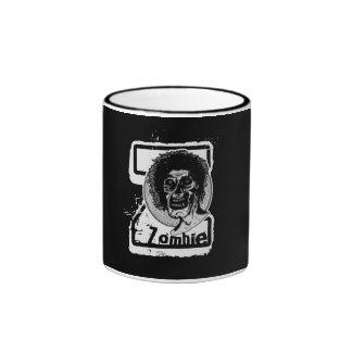 Zombi - Z grande blanco y negro Taza A Dos Colores