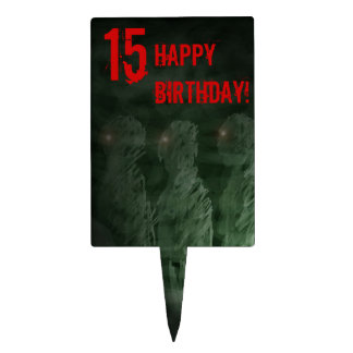 Zombie 15th Birthday Cake Topper