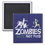 Zombie 2 Inch Square Magnet