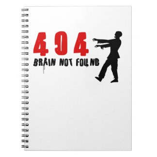 Zombie 404 spiral note book