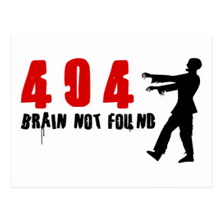 Zombie 404 post cards