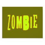 Zombie 4.25x5.5 Paper Invitation Card