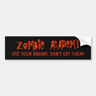 Zombie Academy Brains Bumper Sticker