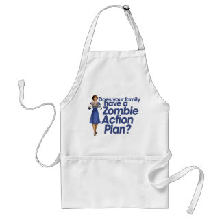 Zombie Action Plan Aprons