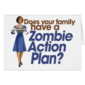 Zombie Action Plan Card