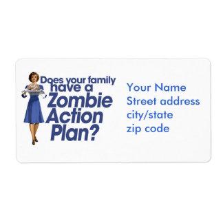 Zombie Action Plan Label