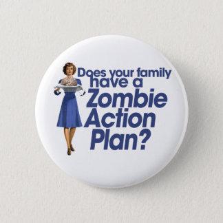 Zombie Action Plan Pinback Button