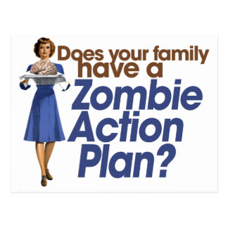 Zombie Action Plan Postcard