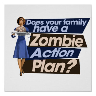 Zombie Action Plan Poster