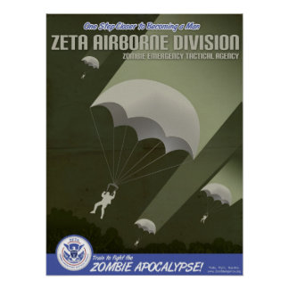 Zombie Agency Airborne Division Poster