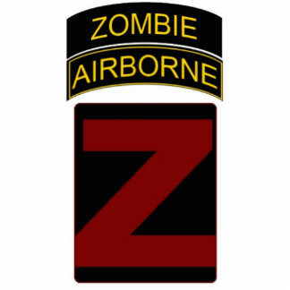 Zombie Airborne Stand Photo Cutouts