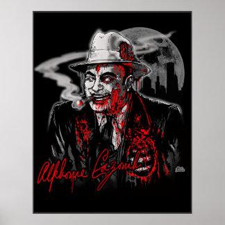 Zombie Al Capone (Al Cazombie) Print