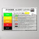 Zombie Alert Level Poster