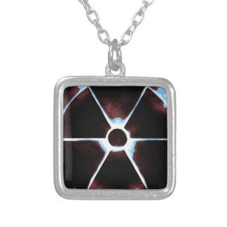 Zombie Alert Square Pendant Necklace