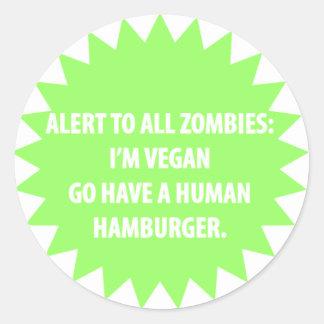 Zombie Alert Sticker (for Vegans)
