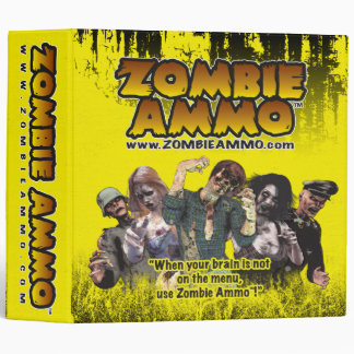 Zombie Ammo Avery Binder