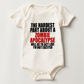 Zombie apocalypse baby bodysuits