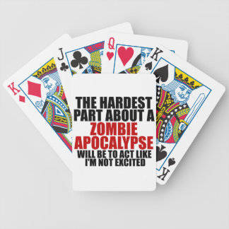 Zombie Apocalypse Bicycle Playing Cards