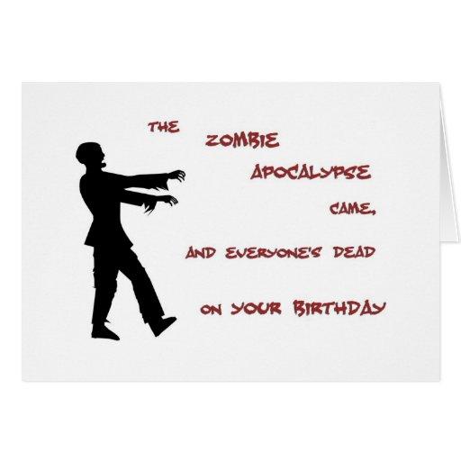 Zombie Apocalypse Birthday Card