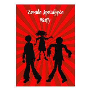 Zombie Apocalypse Party Invitations Announcements Zazzle