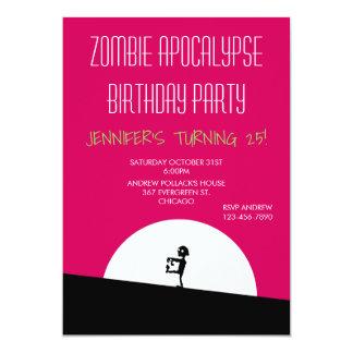 Zombie Apocalypse Birthday Party Card