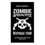 Zombie Apocalypse Double-Sided Standard Business Cards (Pack Of 100)