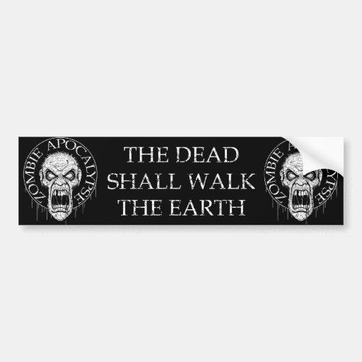 Zombie Apocalypse Car Bumper Sticker