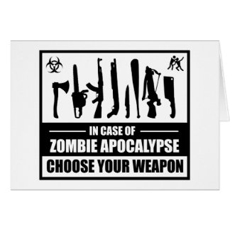 Zombie Apocalypse Choose Your Weapon Cards