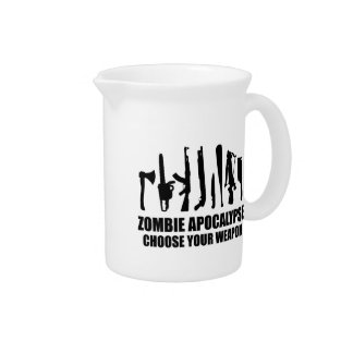 Zombie Apocalypse Choose Your Weapon Drink Pitcher
