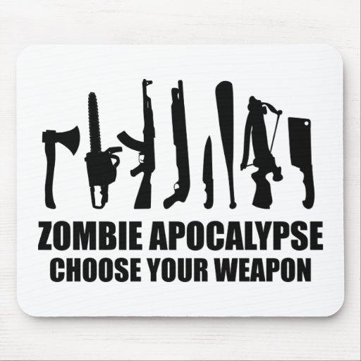 Zombie Apocalypse Choose Your Weapon Mousepads