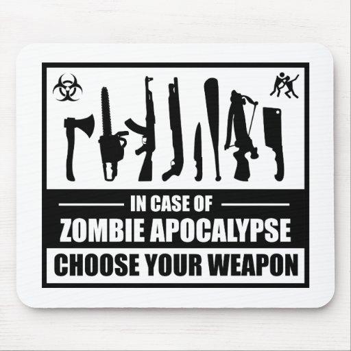 Zombie Apocalypse Choose Your Weapon Mousepad