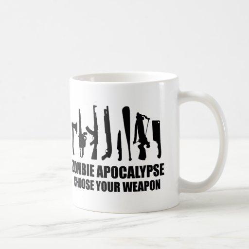 Zombie Apocalypse Choose Your Weapon Coffee Mugs