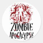 Zombie Apocalypse Classic Round Sticker
