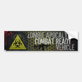 Zombie Apocalypse Combat Ready Vehicle Sticker Car Bumper Sticker