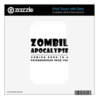 Zombie apocalypse decal for iPod touch 4G