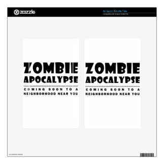 Zombie apocalypse decals for kindle fire