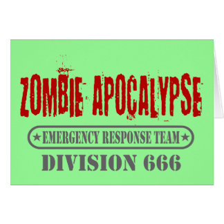 Zombie Apocalypse Division 666 Greeting Card