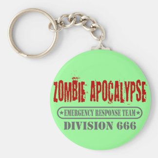 Zombie Apocalypse Division 666 Keychain