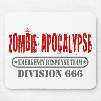 Zombie Apocalypse Division 666 Mouse Pad