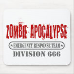 Zombie Apocalypse Division 666 Mousepads