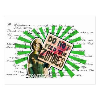 Zombie Apocalypse - Do Not Feed Zombies Postcard