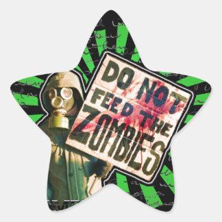 Zombie Apocalypse, Do Not Feed Zombies Star Sticker