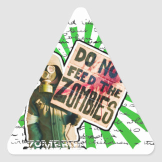 Zombie Apocalypse - Do Not Feed Zombies Triangle Sticker