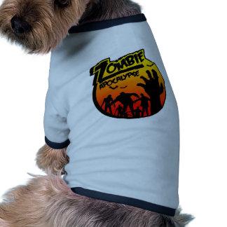 zombie apocalypse pet t shirt