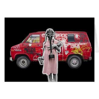 Zombie Apocalypse, Doomsday Girl with Handgun Card